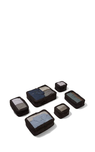 Chelsea Set of 6 Packing Cubes (4589124296) Black