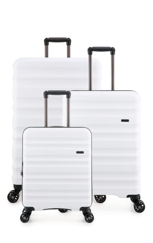 Clifton Monos Set of Three Suitcases (4579100248) White