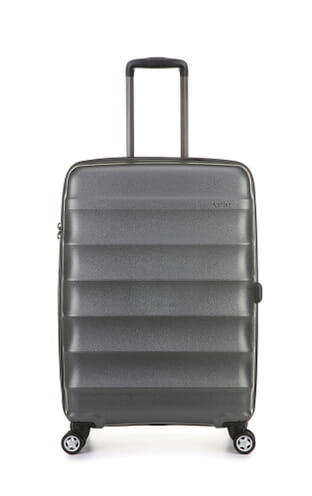 Juno Metallic Medium Suitcase Charcoal