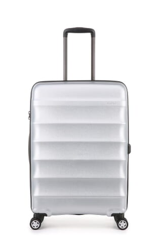Juno Metallic Medium Suitcase (4449115023) Silver