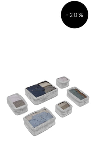 Chelsea 6 Packing Cubes (4589186296) Grey
