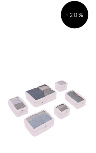 Chelsea 6 Packing Cubes (4589101296) Blush