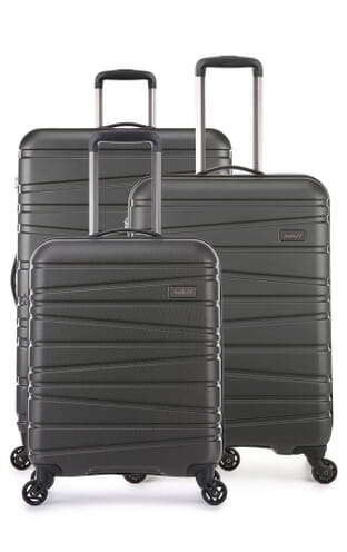 Sonar Exclusive Expandable 3 Piece Suitcase Set (4289123093) Charcoal
